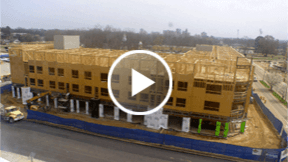 educational building construction  time-lapse movie