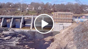 utilities dam construction time-lapse video