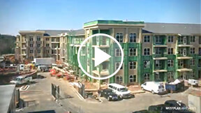 time-lapse video of a multi-family building