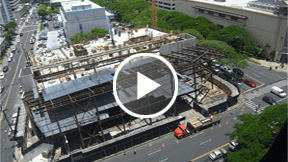 retail drugstore construction time-lapse movie